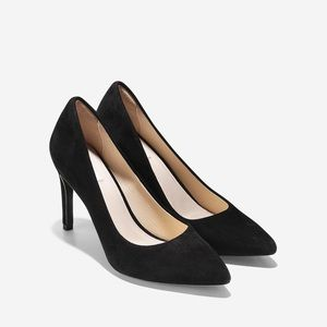 Cole Haan Eliza Grand Pumps sz 8B black suede 85mm